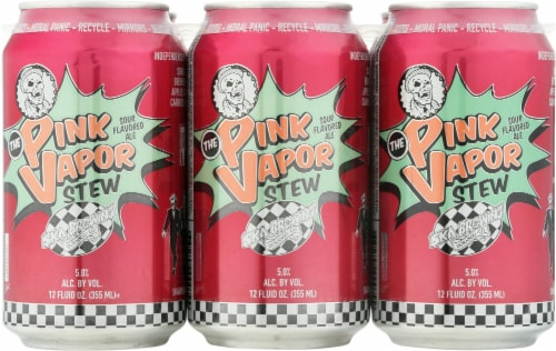 Ska Brewing Co. Pink Vapor Stew Sour Flavored Ale Perspective: front