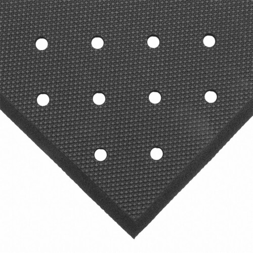 Notrax Drainage Mat,Black,3 ft.x5 ft. HAWA T17P0035BL Perspective: front