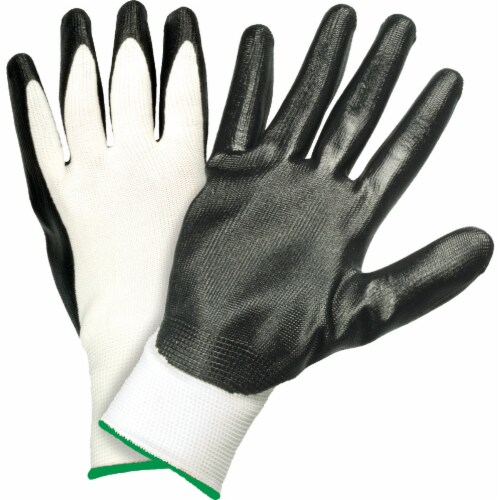 West Chester Protective Gear Men's Large Nitrile Coated Glove Perspective: front