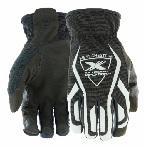 West Chester® Extreme Work™ MultiPurpX Black & Gray Performance Gloves Perspective: front