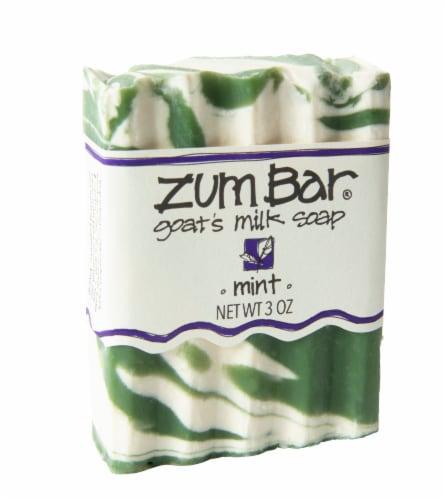 Zum Mint Goat's Milk Soap Perspective: front
