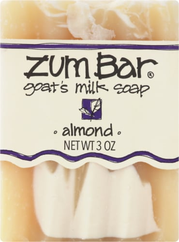 Zum Almond Goat's Milk Bar Soap Perspective: front