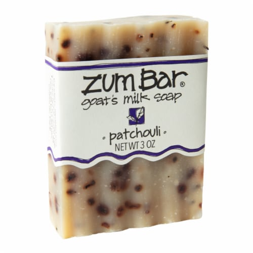 Zum Patchouli Goat's Milk Bar Soap Perspective: front