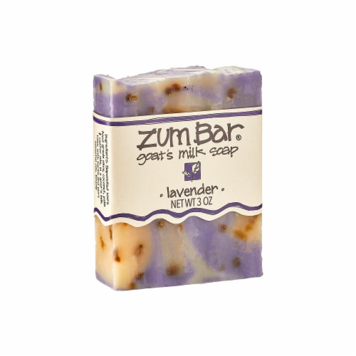 Zum Bar Goat's Milk Lavender Soap Perspective: front