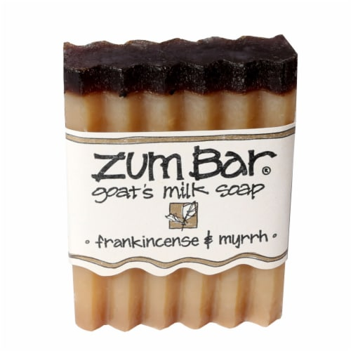 Zum Frankincense & Myrrh Goat's Milk Bar Soap Perspective: front
