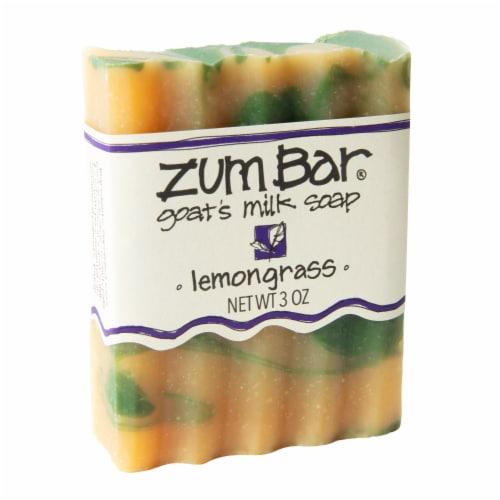 Zum Bar Lemongrass Goat's Milk Bar Soap Perspective: front