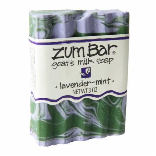 Zum Bar® Lavender-Mint Goat's Milk Bar Soap Perspective: front