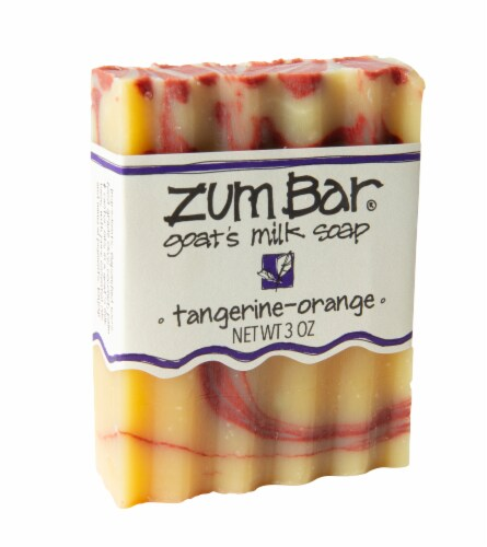 Zum Goat's Milk Tangerine-Orange Bar Soap Perspective: front