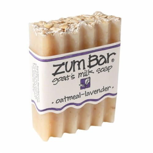 Zum Oatmeal-Lavender Goat's Milk Bar Soap Perspective: front