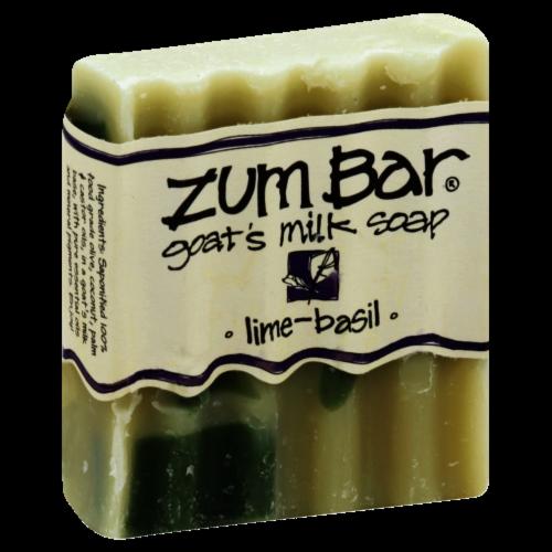Zum Bar Lime Basil Goat's Milk Soap Perspective: front