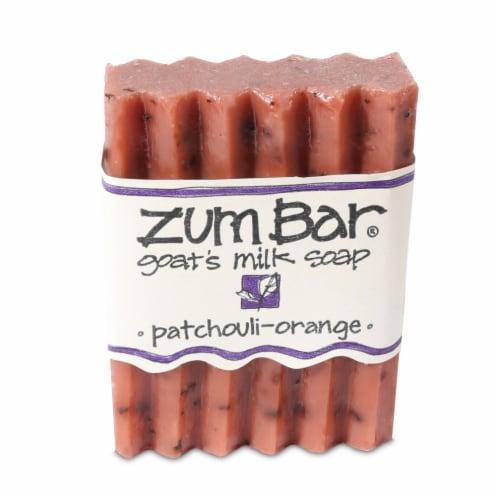 Zum Bar Patchouli-Orange Goat's Milk Soap Bar Perspective: front
