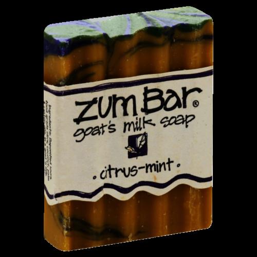Zum Bar Citrus Mint Goat's Milk Soap Perspective: front