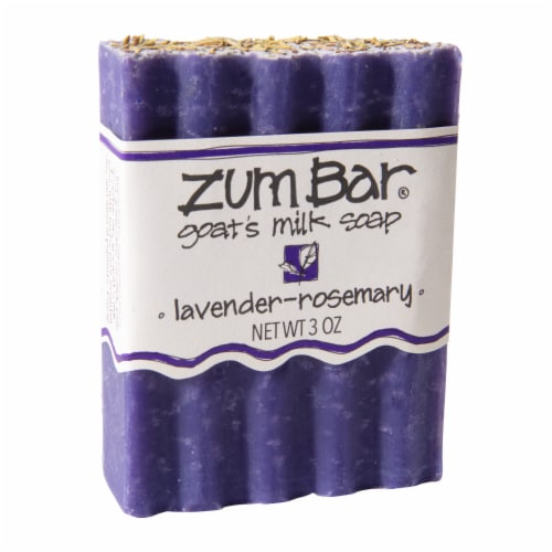 Zum Bar Lavender-Rosemary Goat's Milk Soap Perspective: front