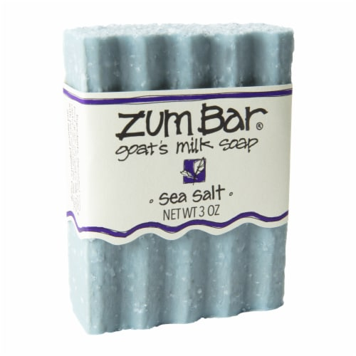 Zum Sea Salt Goat's Milk Bar Soap Perspective: front