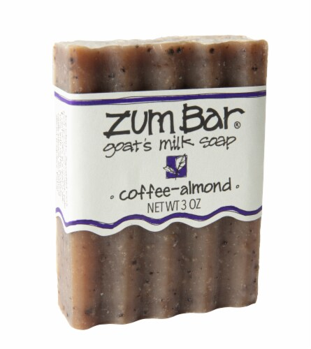 Zum Bar Coffee Almond Goat's Milk Soap Perspective: front