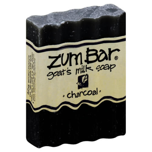 Zum Bar Charcoal Goat's Milk Soap Perspective: front