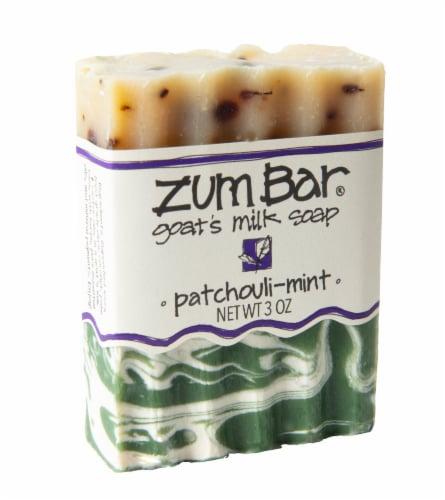 Zum Bar Patchouli Mint Goat's Milk Soap Perspective: front