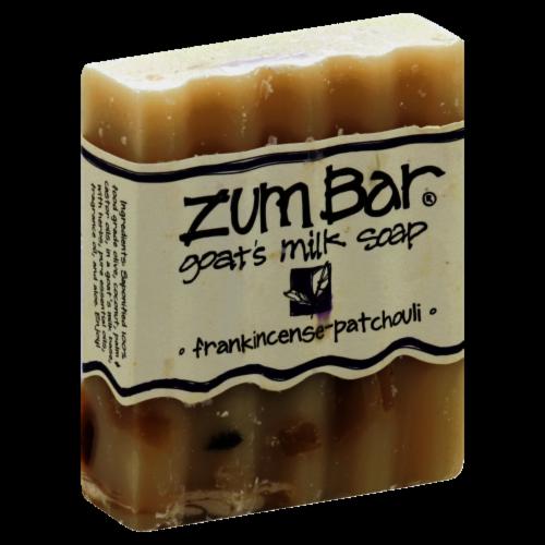Zum Bar Frankincense Patchouli Goats's Milk Soap Perspective: front