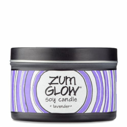Zum Glow Lavender Soy Candle Perspective: front