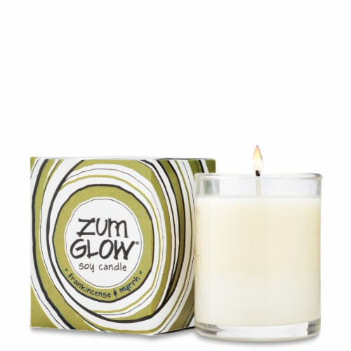 Zum  Glow® Votive Aromatherapy Soy Candle Frankincense & Myrhh Perspective: front