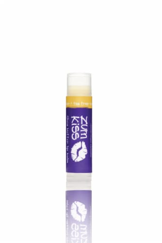 Zum Kiss Tea Tree-Lavender Shea Butter Lip Balm Perspective: front