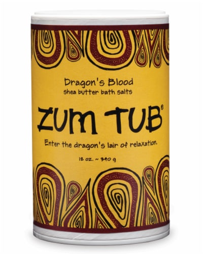Zum Tub Dragon's Blood Shea Butter Bath Salts Perspective: front