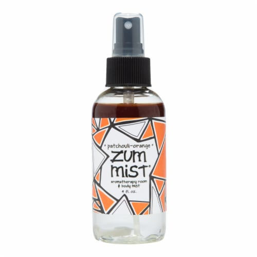 Zum Mist Patchouli-Orange Aromatherapeutic Room and Body Spray Perspective: front
