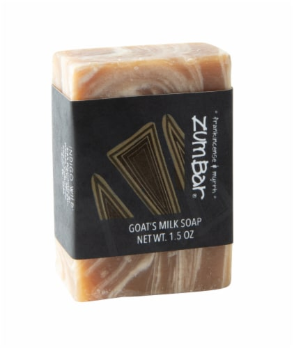 Zum Bar Frankincense & Myrrh Goat's Milk Soap Mini Bar Perspective: front