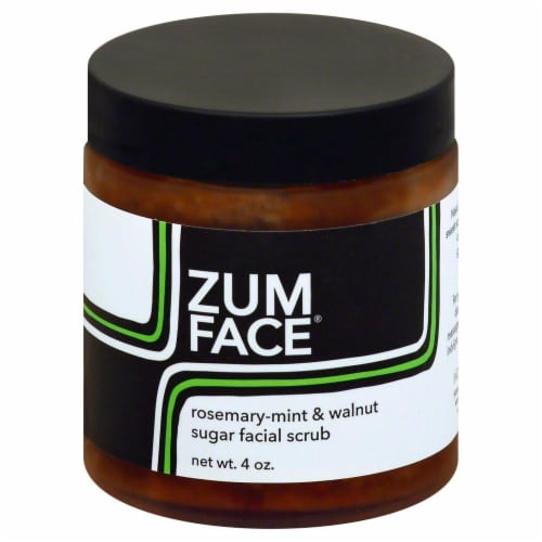 Zum Face Indigo Wild Rosemary-mint & Walnut Sugar Face Scrub Perspective: front