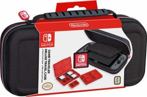 Nintendo Switch Game Traveler Deluxe Travel Case - Black Perspective: front