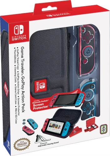 Nintendo Switch Game Traveler GoPlay Action Pack - Black Perspective: front