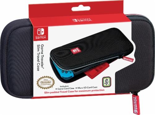 Nintendo Switch Game Traveler Slim Travel Case - Black/Red Perspective: front
