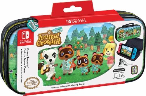 Nintendo Switch Animal Crossing New Horizon Game Traveler Deluxe Case Perspective: front