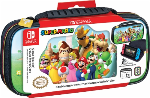 Nintendo Switch Super Mario Characters Game Traveler Deluxe Case Perspective: front