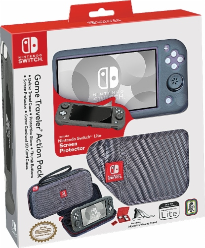 Nintendo Switch Game Traveler Action Pack - Gray Perspective: front