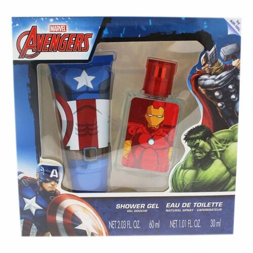 Marvel Avengers 1.01oz EDT Spray, 2.03oz Shower Gel 2 Pc Gift Set Perspective: front