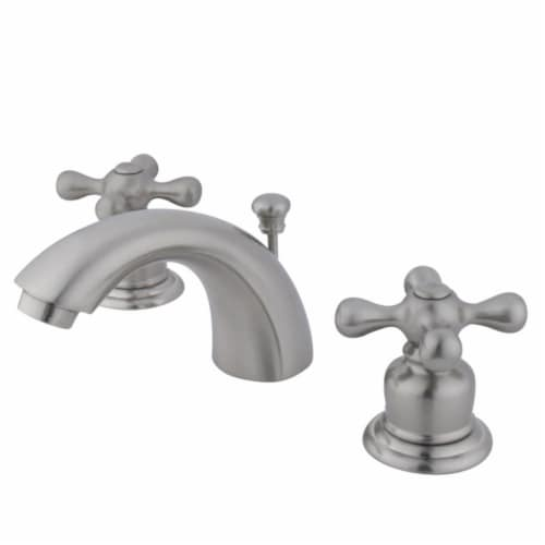Kingston Brass KB948AX Victorian Mini-Widespread Bathroom Faucet, Brushed Nickel Perspective: front