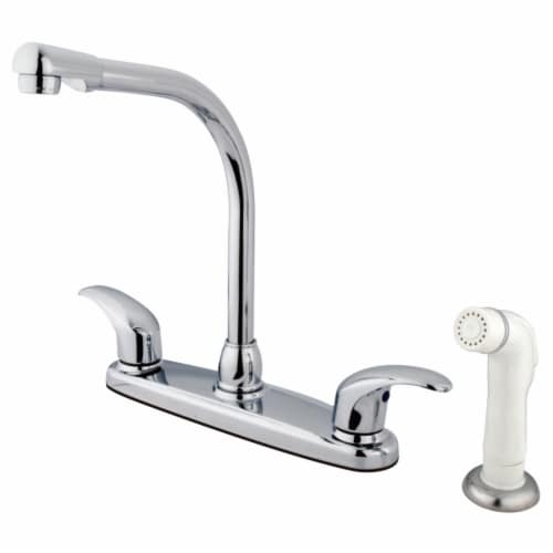 Kingston Brass KB711LL Legacy 8-Inch Centerset Kitchen Faucet, Polished Chrome Perspective: front