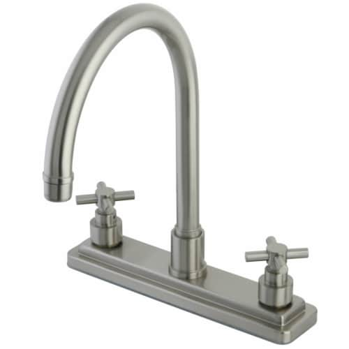 Kingston Brass KS8798EXLS 8-Inch Centerset Kitchen Faucet, Brushed Nickel Perspective: front