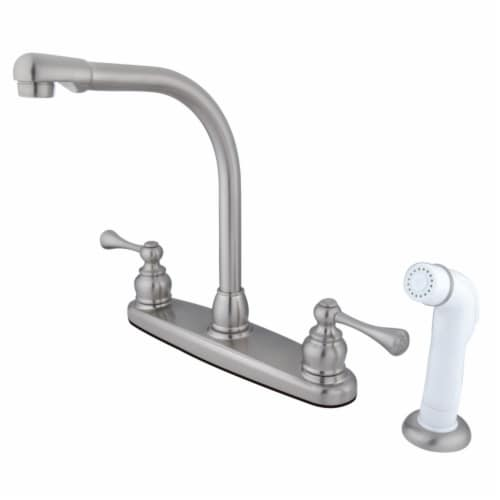 Kingston Brass KB718BL 8-Inch Centerset Kitchen Faucet, Brushed Nickel Perspective: front