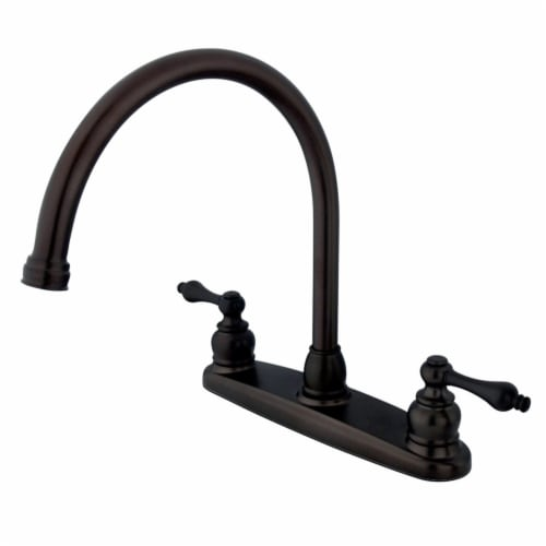 Kingston Brass KB725ALLS Victorian 8-Inch Centerset Kitchen Faucet, Oil Rubbed Bronze Perspective: front