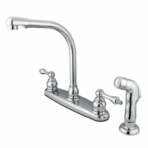 Kingston Brass KB711ALSP Victorian Centerset Kitchen Faucet, Polished Chrome Perspective: front