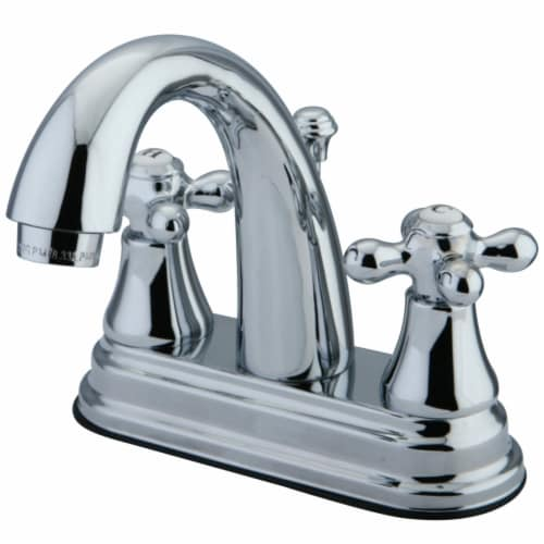 Kingston Brass KS7611AX 4 in. Centerset Bathroom Faucet, Polished Chrome Perspective: front