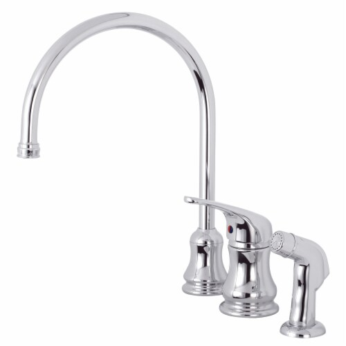 Kingston Brass KS821CSP Single-Handle Kitchen Faucet, Polished Chrome Perspective: front