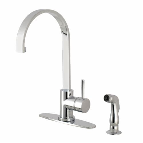 Gourmetier LS8711DLSP Concord Single-Handle Kitchen Faucet with Side Sprayer, Polished Chrome Perspective: front