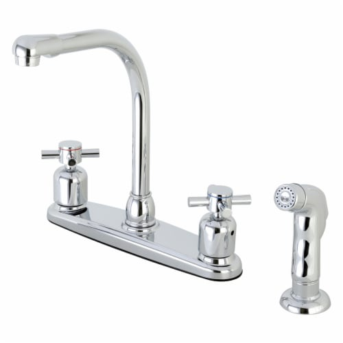 FB751DXSP Concord 8-Inch Centerset Kitchen Faucet with Sprayer, Polished Chrome Perspective: front