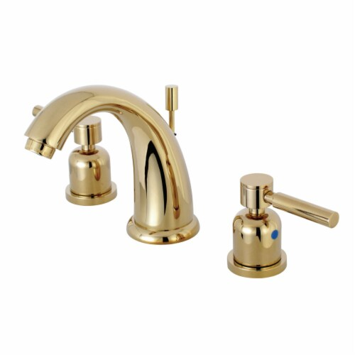 Kingston Brass KB8982DL 8 in. Widespread Bathroom Faucet, Polished Brass Perspective: front