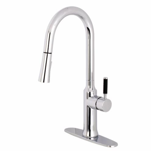 Gourmetier LS2721DKL Single-Handle Pull-Down Kitchen Faucet, Polished Chrome Perspective: front