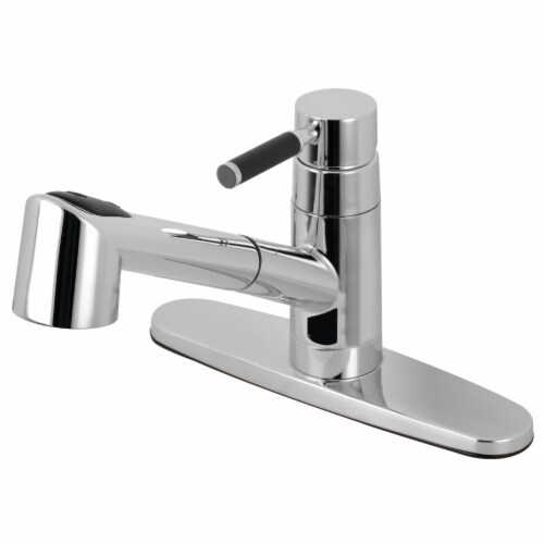 Gourmetier GSC8571DKL Kaiser Single-Handle Pull-Out Kitchen Faucet, Polished Chrome Perspective: front