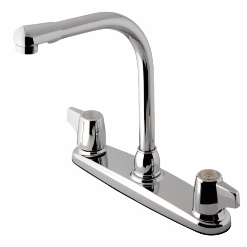 Kingston Brass KB741 8-Inch Centerset Kitchen Faucet, Polished Chrome Perspective: front
